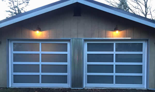 Charmant The Doorhouse Installation In Tulalip Shores, WA Of Two Modern Style Garage  Doors